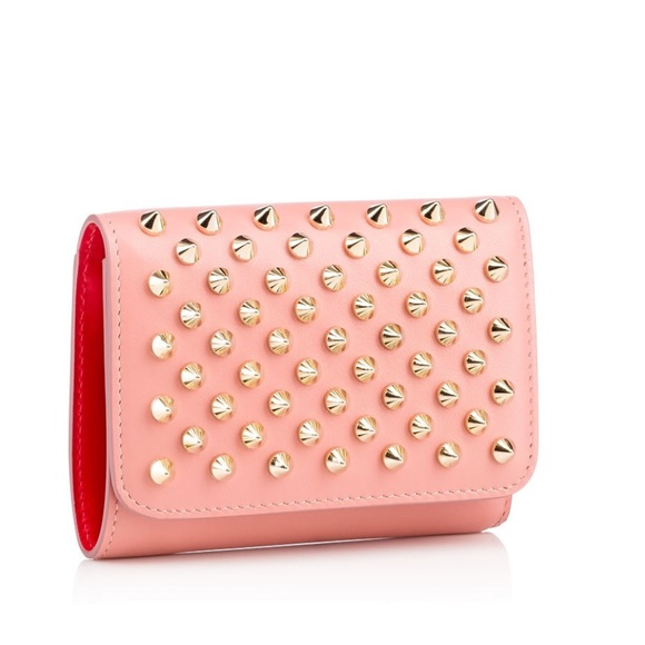 ba083d8e019 Christian louboutin mini spiked leather wallet